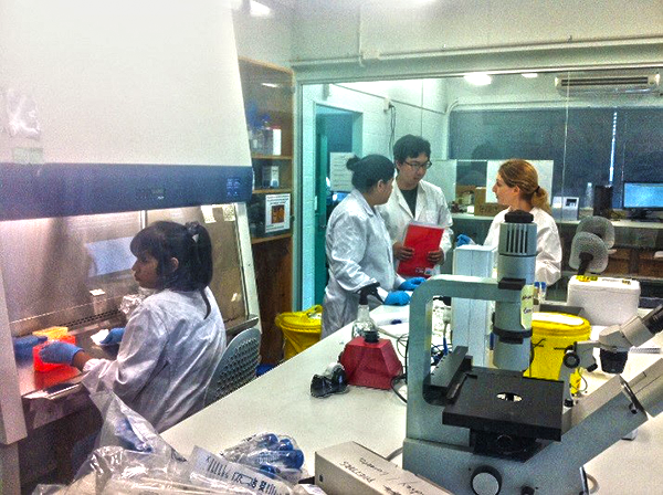Students working in our Biomedical Science Facility